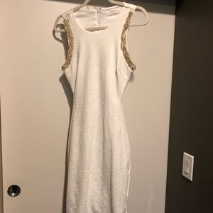 Just Me White Cocktail Dress
